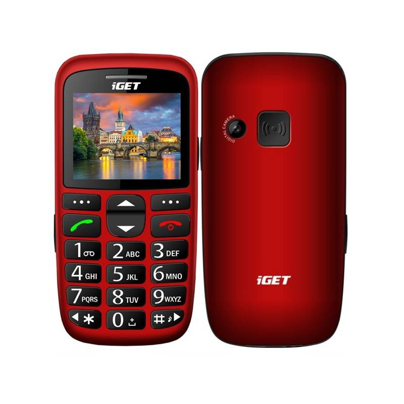 Mobilný telefón iGET D7 Single SIM (84000436) červený