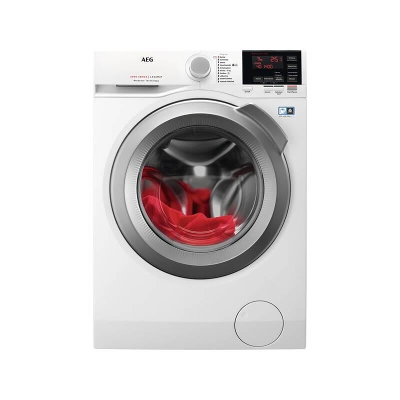 Automatická práčka AEG ProSense™ L6FEG49SC biela Čistič oken ETA Aquarelo 0262 90000 (zdarma) + Doprava zadarmo