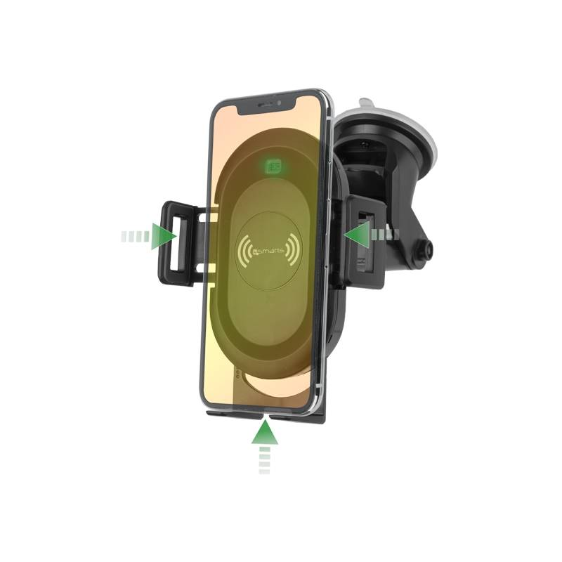 Držiak na mobil 4smarts VoltBeam Sensor s bezdrátovým dobíjením (MP462266) čierny