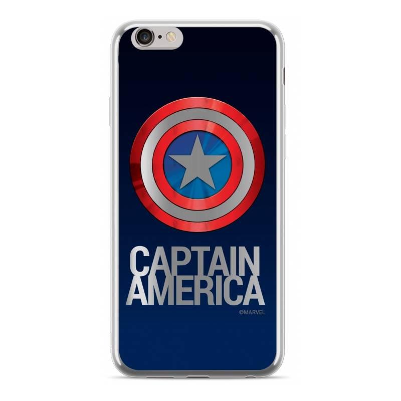 Kryt na mobil Marvel Captain America pro Huawei Y5 2018 (MPCCAPAM08) stříbrný/modrý