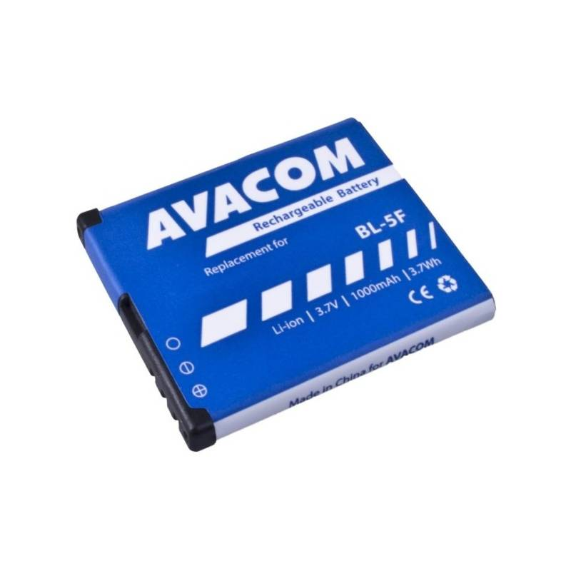 Baterie Avacom pro Nokia N95, E65, Li-Ion 3,6V 1000mAh (náhrada BL-5F)