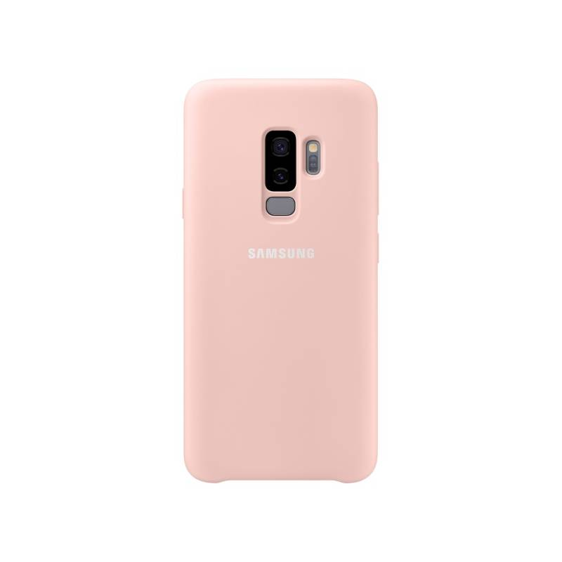 Kryt na mobil Samsung Silicon Cover pro Galaxy S9+ (EF-PG965T) (EF-PG965TPEGWW) ružový