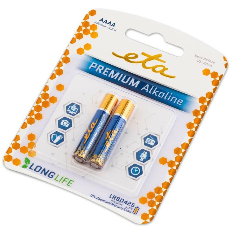Batéria alkalická ETA PREMIUM AAAA, blister 2 ks (LR8PREM2)