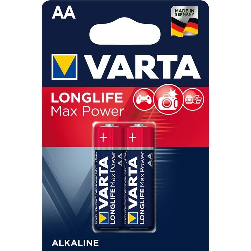 Batéria alkalická Varta Longlife Max Power AA, LR06, blistr 2ks (4706101412)