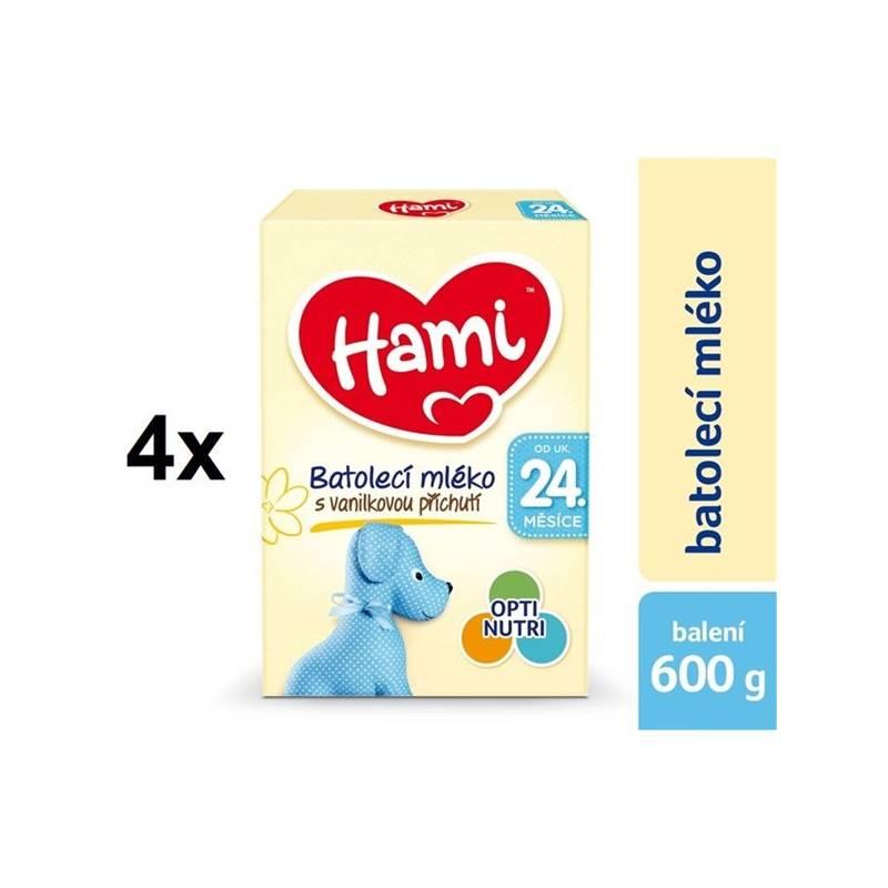 Dojčenské mlieko Hami 4 Vanilka od ukončeného 24. měsíce, 600g x 4ks + DÁREK