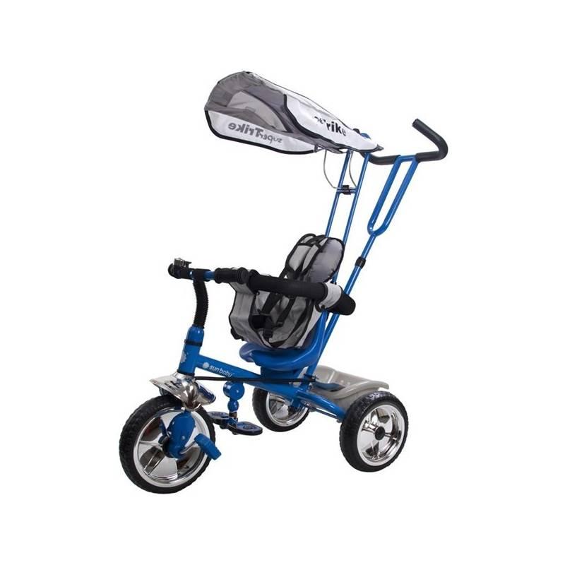 Trojkolka Sun Baby Super Trike se stříškou modrá + Doprava zadarmo