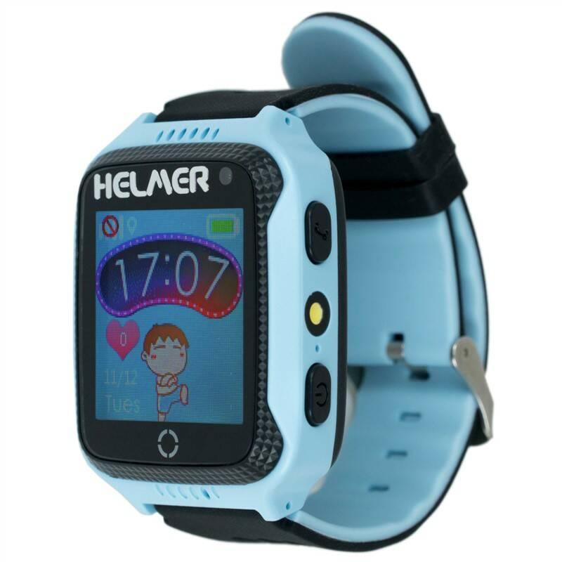 Chytré hodinky Helmer LK 707 dětské s GPS lokátorem (Helmer LK 707 B) modrý