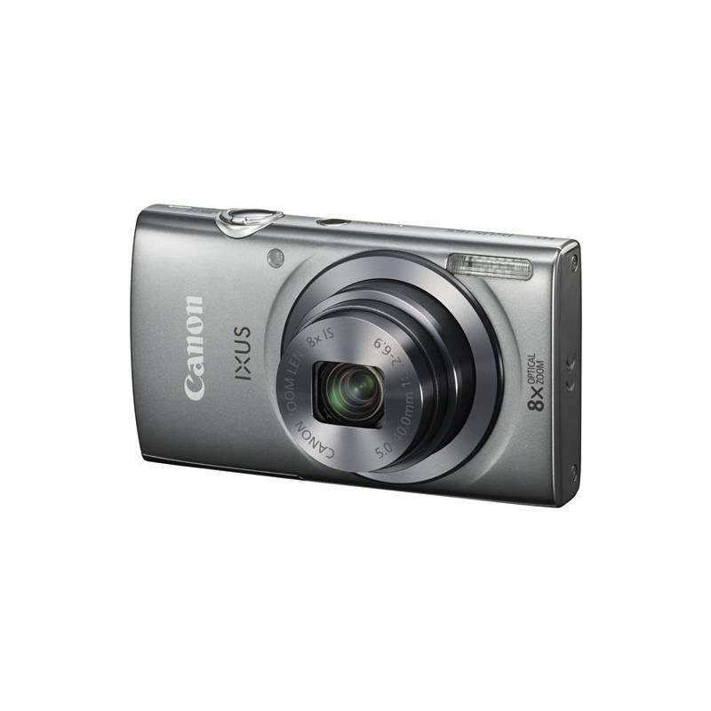 Digitálny fotoaparát Canon IXUS 165 + 8GB SD karta + pouzdro strieborný