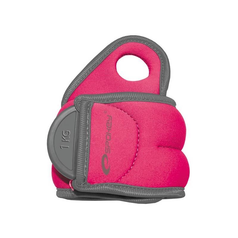 Závažie Spokey Com Form na zápěstí 2 x 1 kg ružové + Doprava zadarmo
