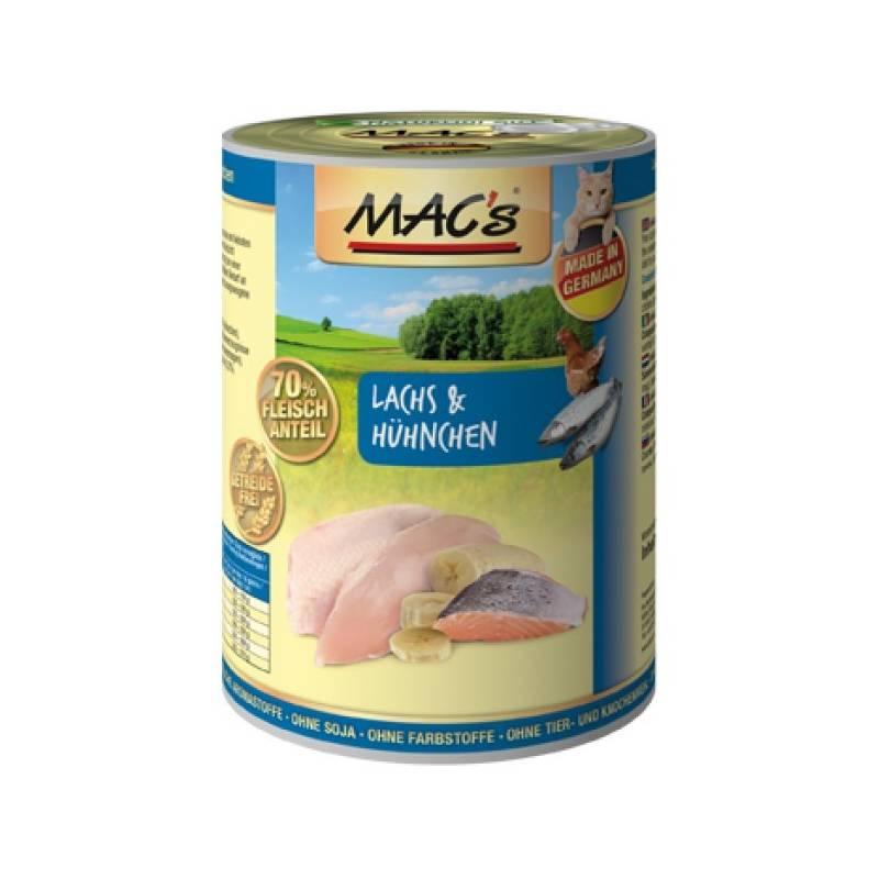 Konzerva MACs Cat Losos a kuře 800g