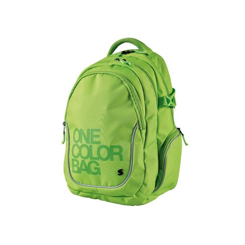 Batoh školský Stil teen One Colour zelený