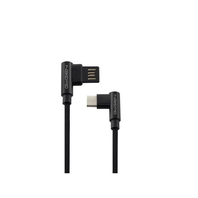 Kábel GoGEN USB / USB-C, 1m, oboustraný, opletený (USBAC100MM03) čierny
