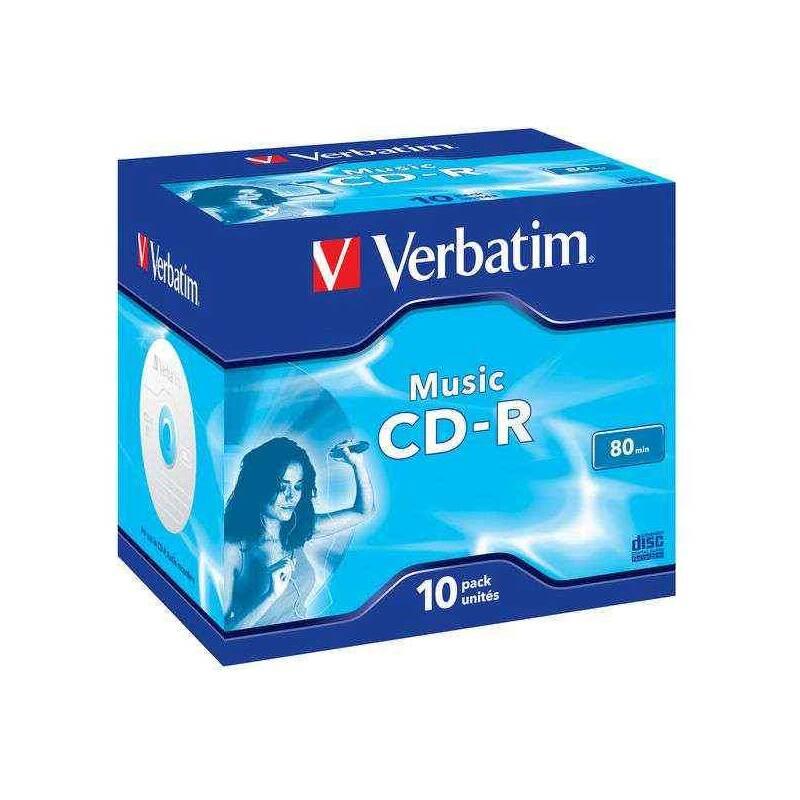 Disk Verbatim CD-R 700MB/80 min. AUDIO LIVE IT!, 10ks (43365)