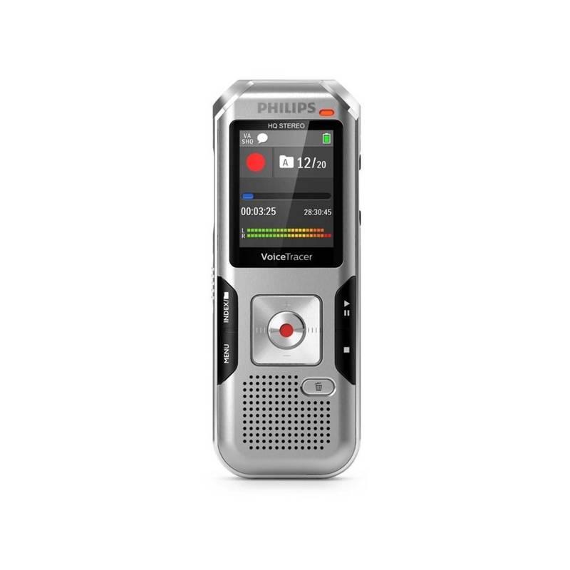 Diktafón Philips DVT4010 (855971006205) strieborný Sluchátka Philips SHE3590WT do uší (zdarma)