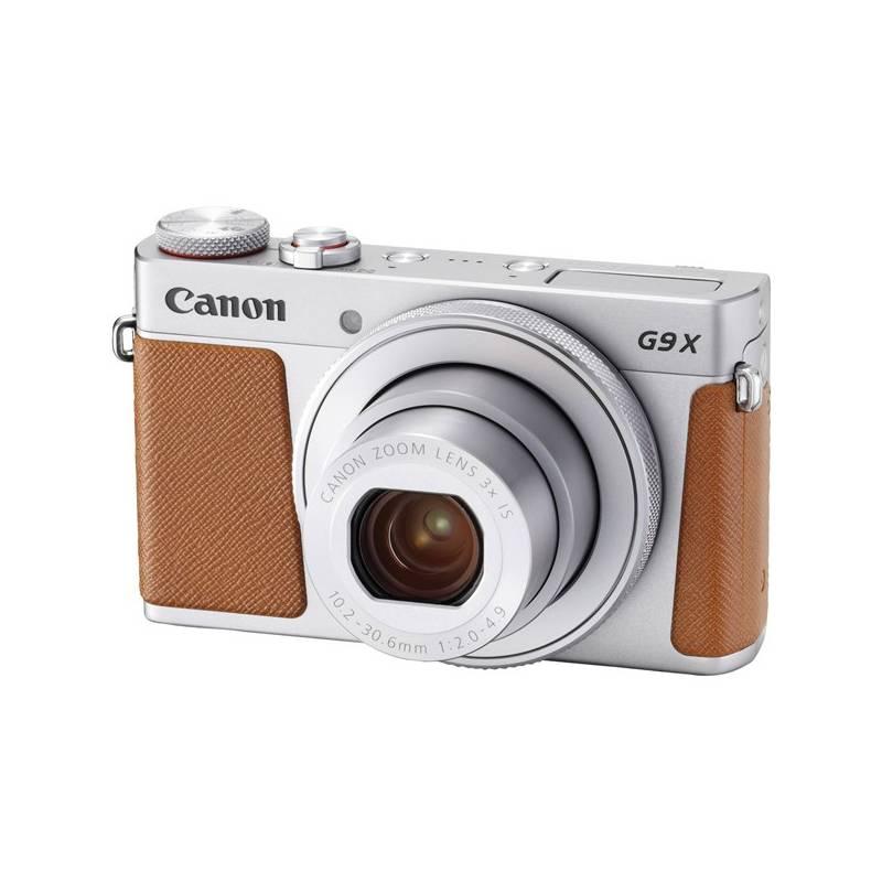 Digitálny fotoaparát Canon PowerShot PowerShot G9 X Mark II Silver (1718C002) strieborný + Cashback 30 € + Doprava zadarmo
