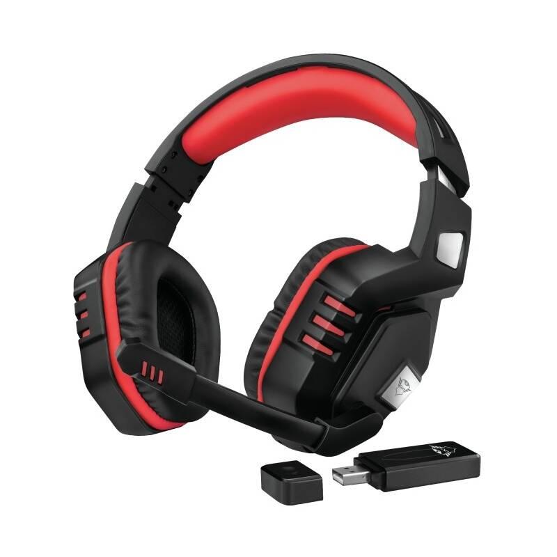 Headset Trust GXT390 Juga (23378) čierny/červený