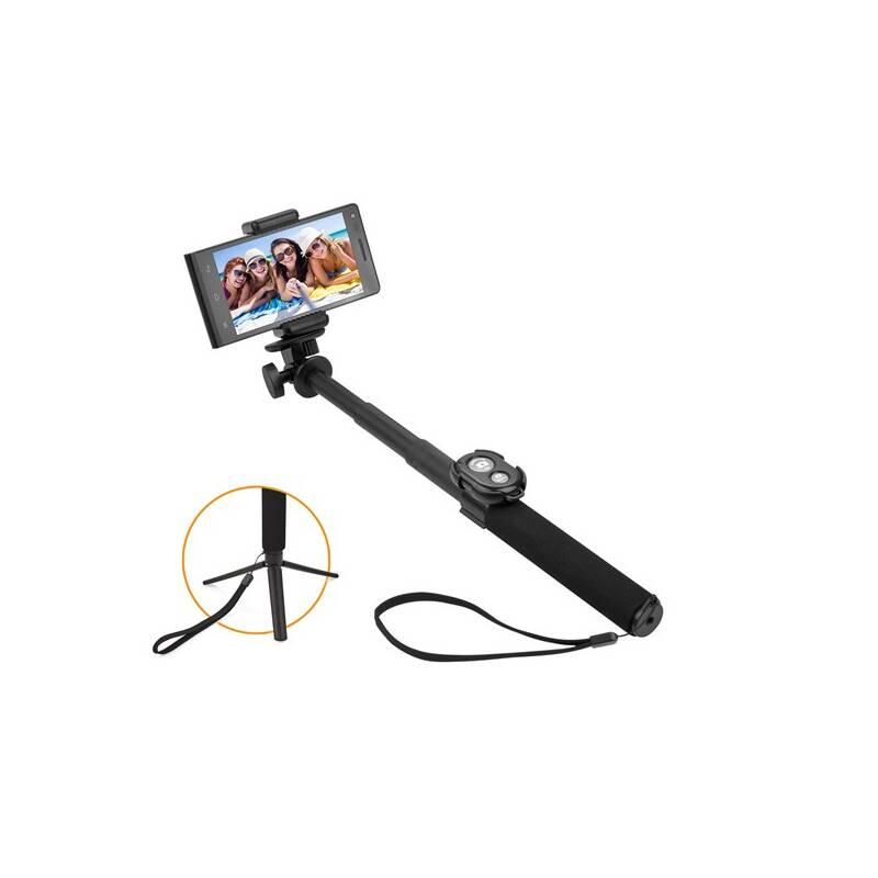 Selfie tyč GoGEN 5 teleskopická, bluetooth, čierna