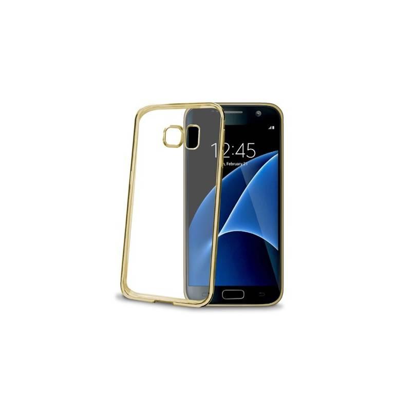 Kryt na mobil Celly Laser pro Samsung Galaxy S7 (BCLGS7GD) zlatý