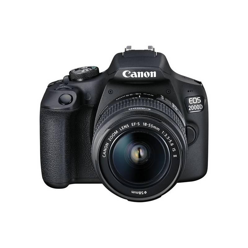 Digitálny fotoaparát Canon EOS 2000D + 18-55 IS II + 50 1.8 S (2728C022AA) čierny