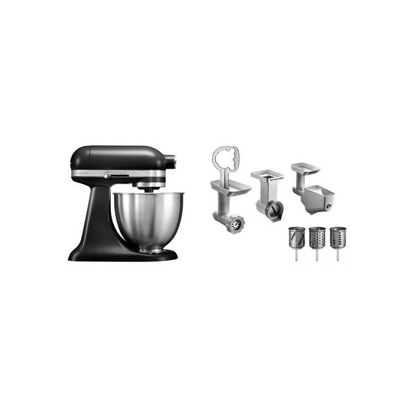 Set KitchenAid - kuchyňský robot 5KSM3311XEBM + FPPC balíček s příslušenstvím + Doprava zadarmo