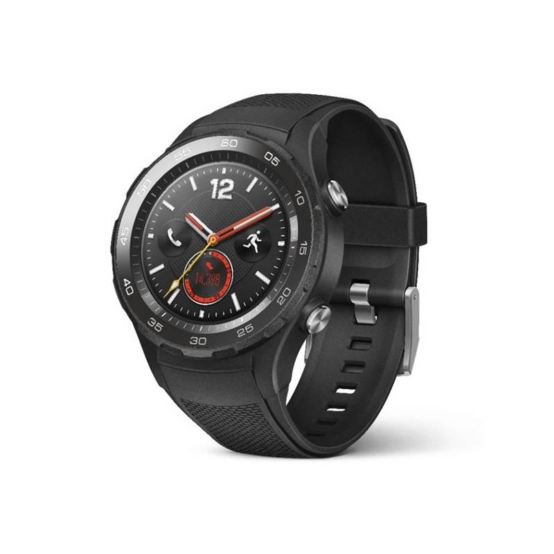 Chytré hodinky Huawei Watch 2 SIM Sport - Carbon Black (WA-WATCHW2BOM)