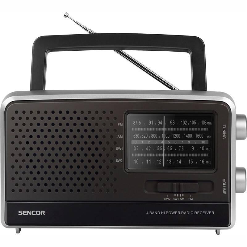 Radiopřijímač Sencor SRD 2806 černý