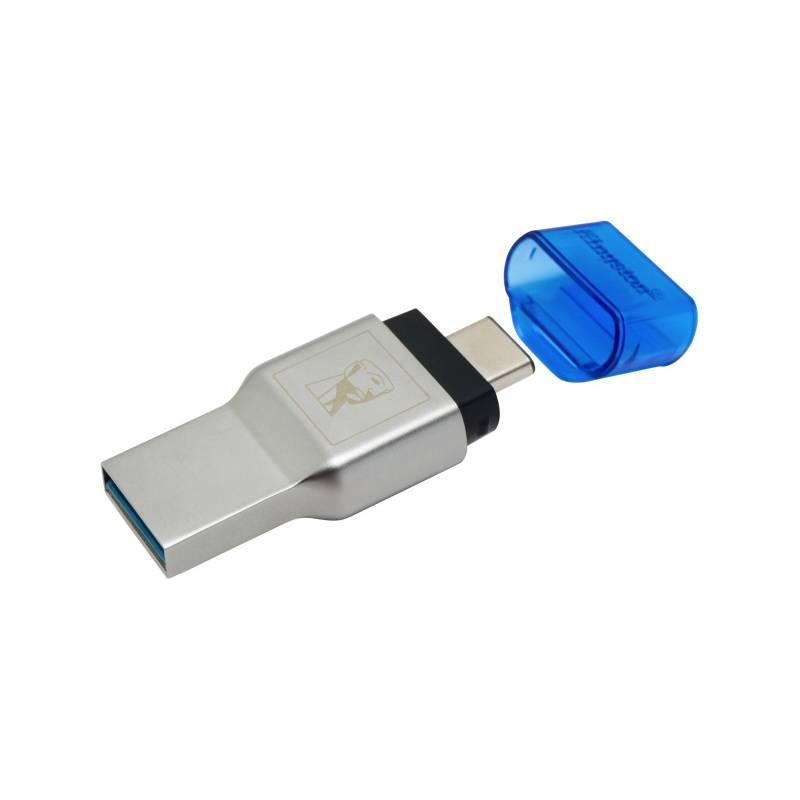Čtečka paměťových karet Kingston MobileLite Duo 3C (FCR-ML3C) stříbrná/modrá