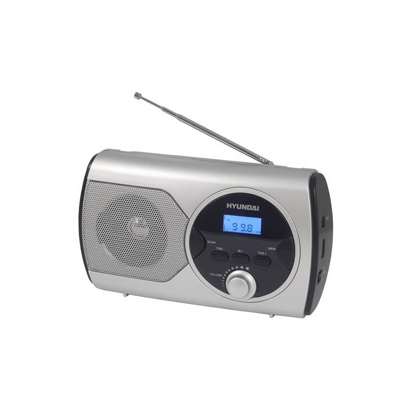 Radiopřijímač Hyundai PR 570PLLS stříbrný