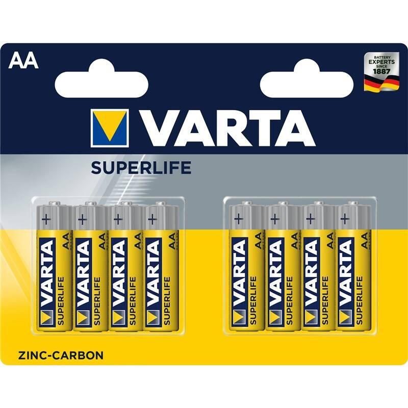Batérie zinkovo-uhlíková Varta Superlife AA, R6P, blistr 8ks (2006101418)