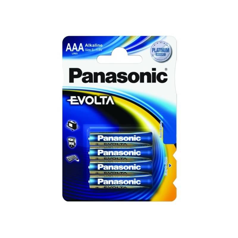 Batéria alkalická Panasonic AAA, LR03, Evolta, blistr 4ks