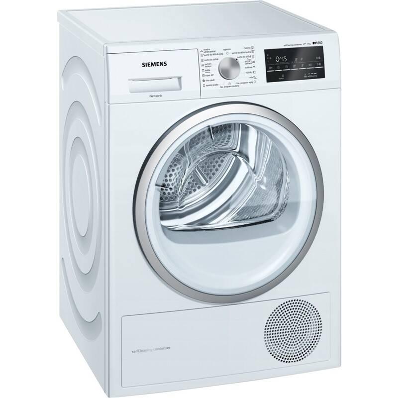 Sušička bielizne Siemens iQ500 WT45W461CS biela + Doprava zadarmo