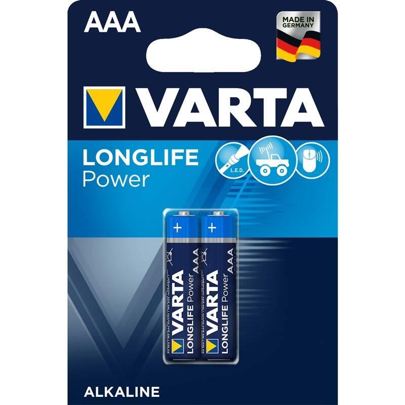 Batéria alkalická Varta Longlife Power AAA, LR03, blistr 2ks (4903121412)