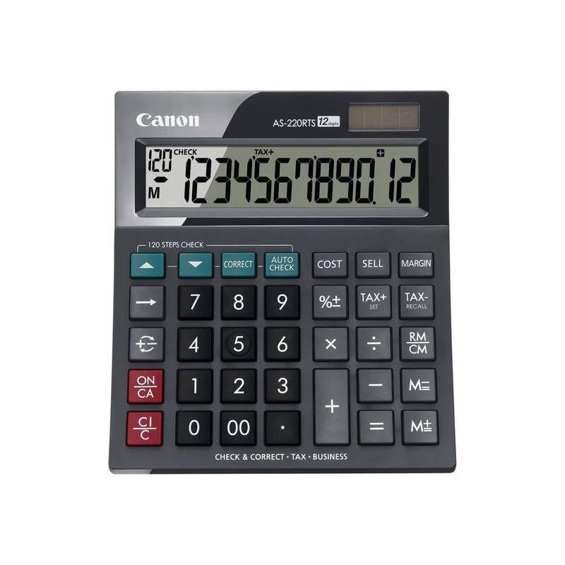 Kalkulačka Canon AS-220RTS (4898B001) čierna