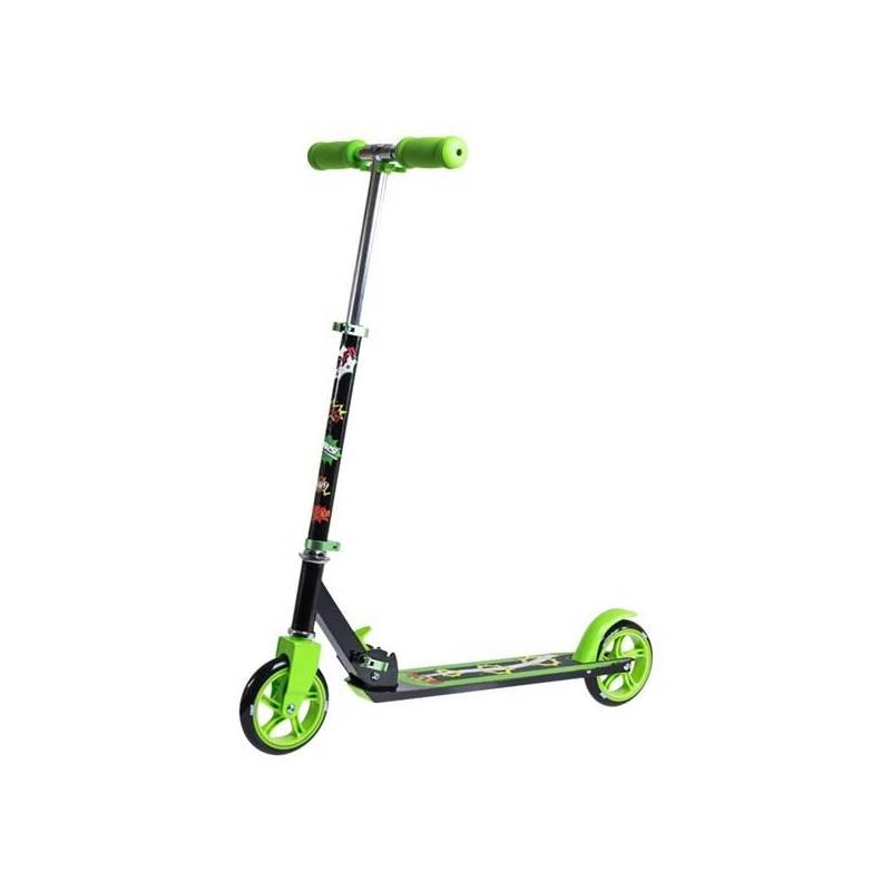 Kolobežka Nils Extreme QD-145 čierna/zelená + Reflexní sada 2 SportTeam (pásek, přívěsek, samolepky) - zelené v hodnote 2.80 €