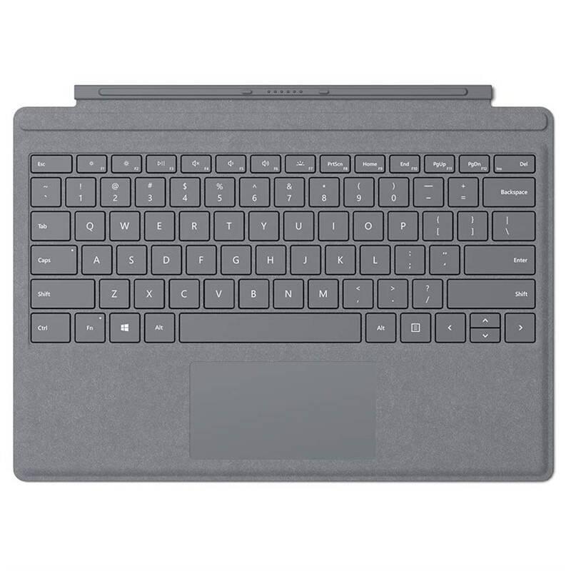 Pouzdro na tablet Microsoft Surface Go Type Cover, US layout (KCS-00013) stříbrné
