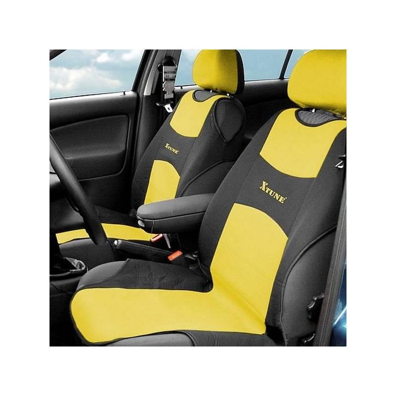 Poťah sedadiel Compass TRIKO přední 2 ks žlutý