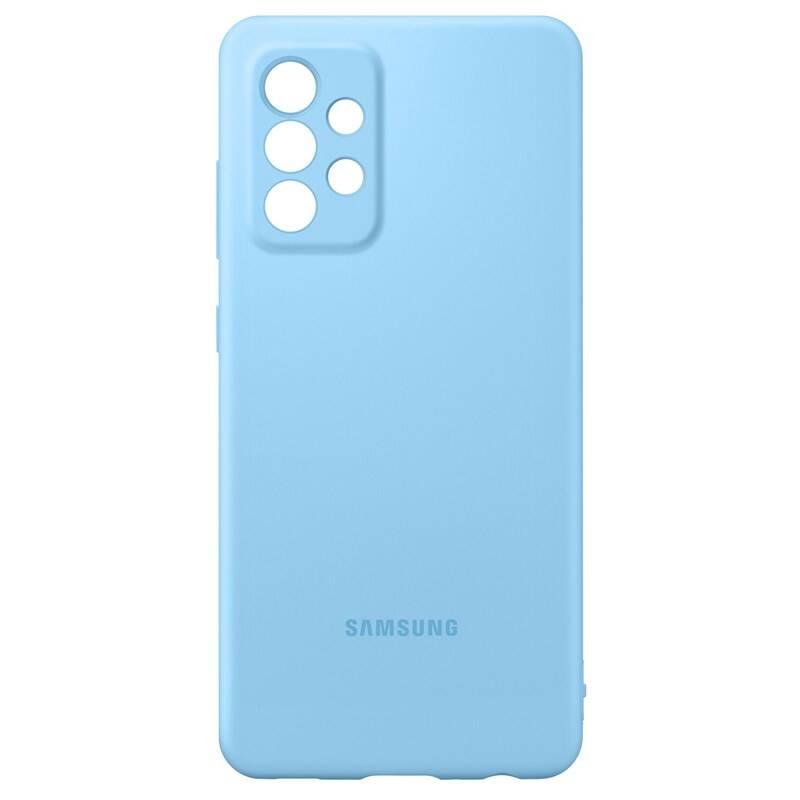 Kryt na mobil Samsung Silicon Cover na Galaxy A52/A52 5G/A52s 5G (EF-PA525TLEGWW) modrý