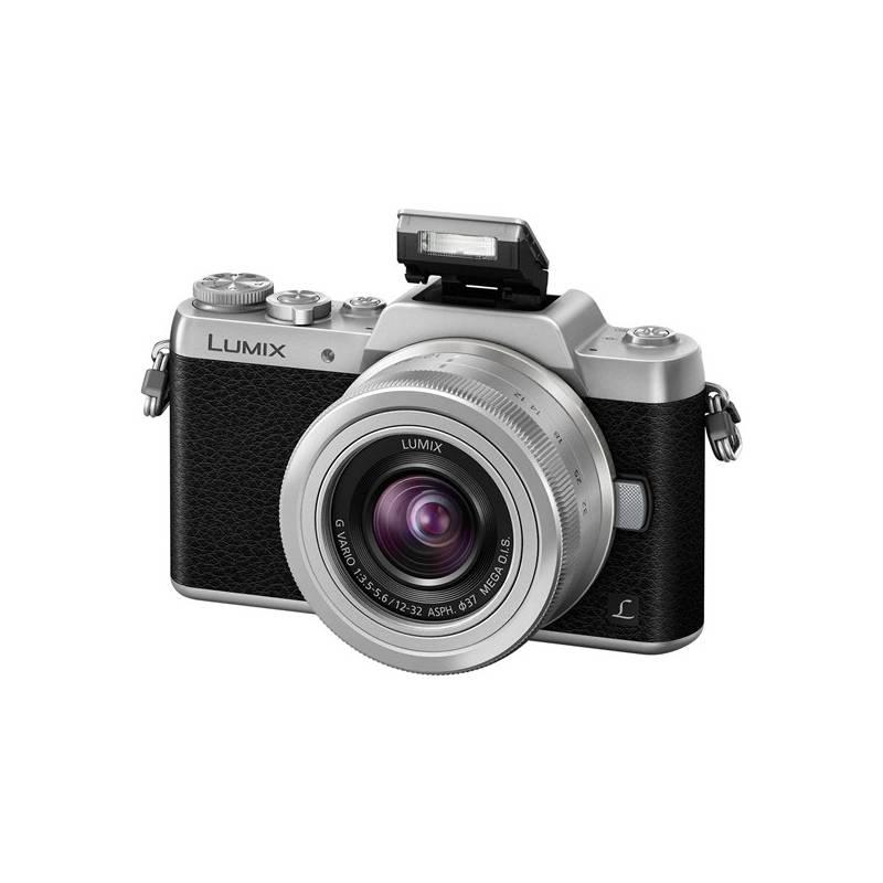 Digitálny fotoaparát Panasonic Lumix DMC-GF7KEG-S + objektiv 12-32 mm čierny/strieborný