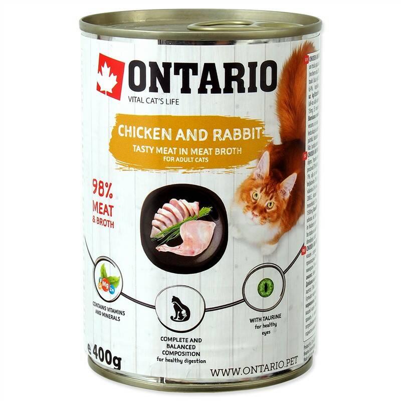 Konzerva Ontario Chicken, Rabbit, Salmon Oil 400 g