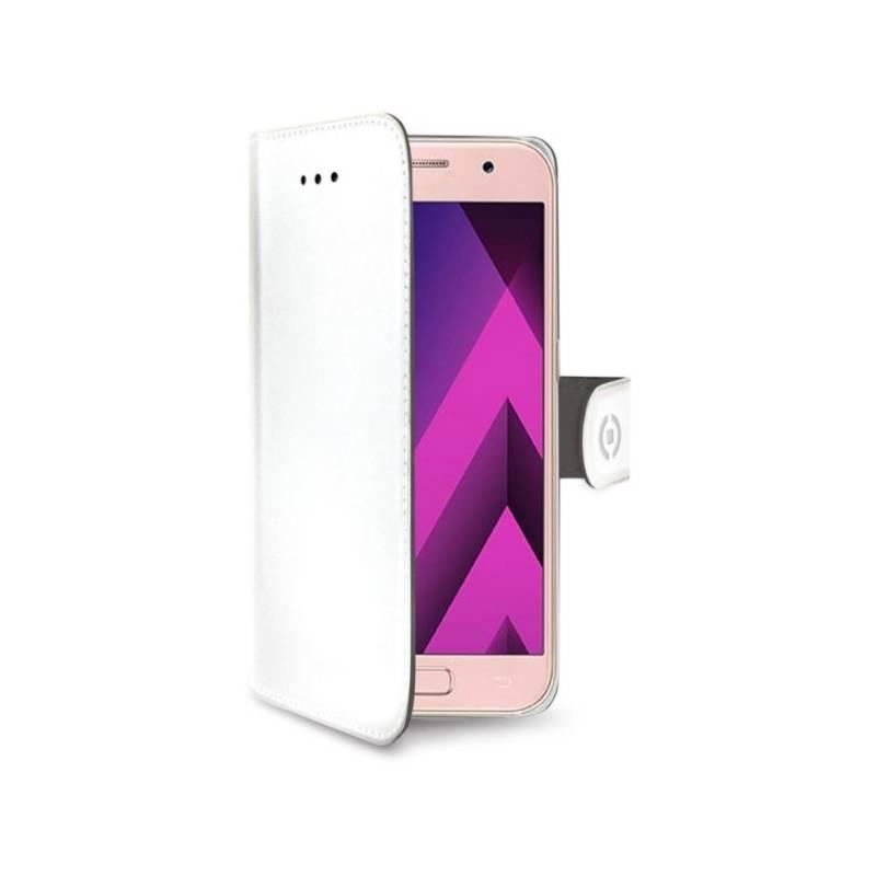 Puzdro na mobil flipové Celly Wally pro Samsung Galaxy A3 (2017) (WALLY643WH) biele