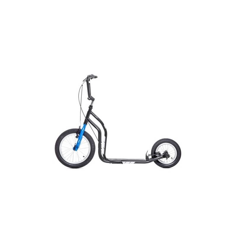 Kolobežka Yedoo New City New čierna/modrá + Reflexní sada 2 SportTeam (pásek, přívěsek, samolepky) - zelené v hodnote 2.80 € + Doprava zadarmo