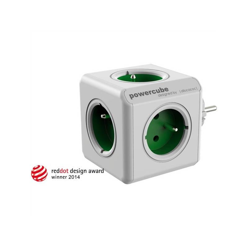 Zásuvka Powercube Original, 5x zásuvka biela/zelená