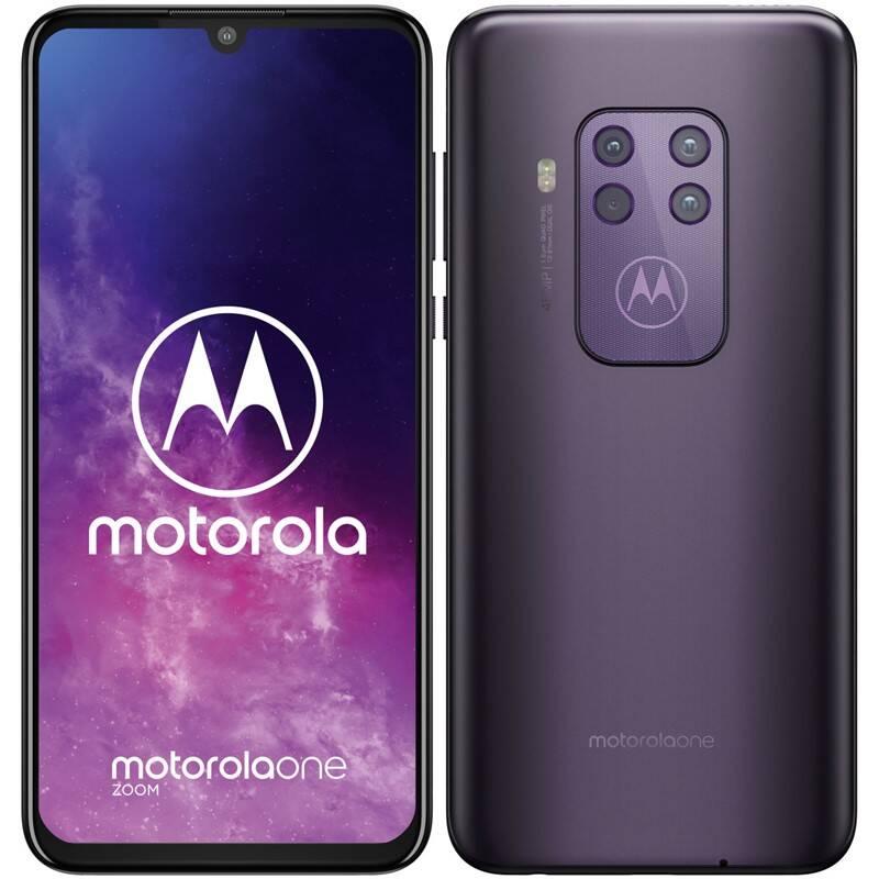Mobilní telefon Motorola One Zoom (PAG20043RO) fialový