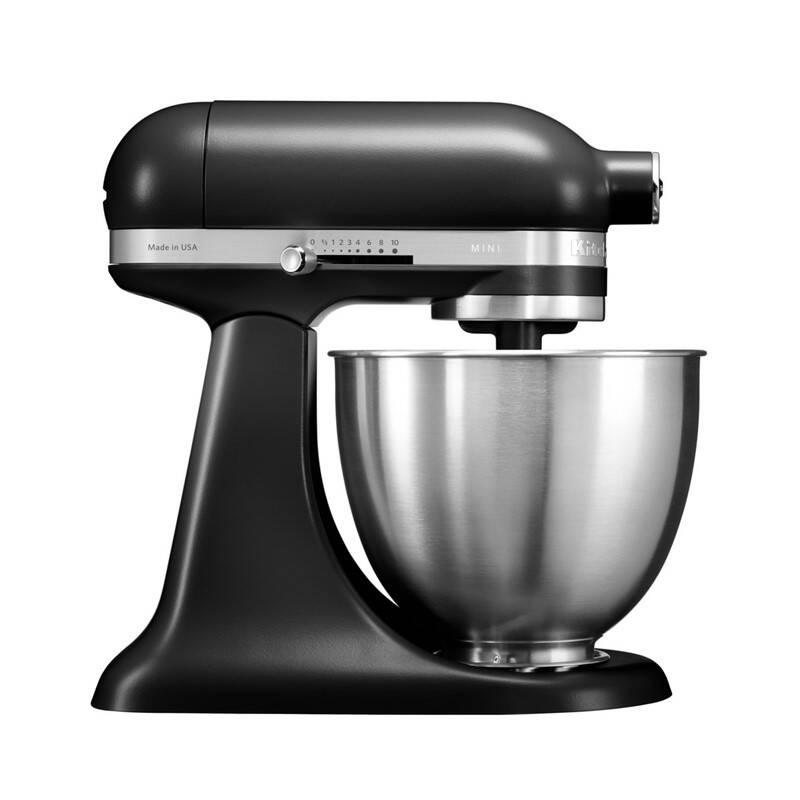 Kuchynský robot KitchenAid Artisan MINI 5KSM3311XEBM čierny + Doprava zadarmo