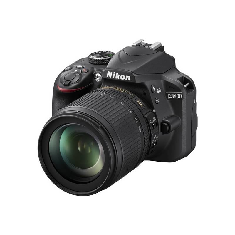 Digitálny fotoaparát Nikon D3400 + 18-105 AF-S DX VR + 4x čištění čipu zdarma (VBA490K003) čierny + Doprava zadarmo