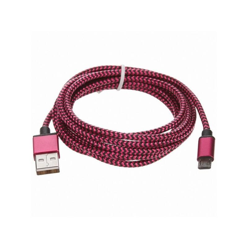 Kábel CellFish USB/micro USB, 2m (PLUSBKABELPINK2M) ružový