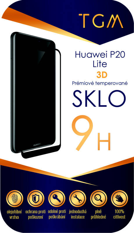 Ochranné sklo TGM 3D pro Huawei P20 Lite (TGM3DHUAWP20LBL) černé