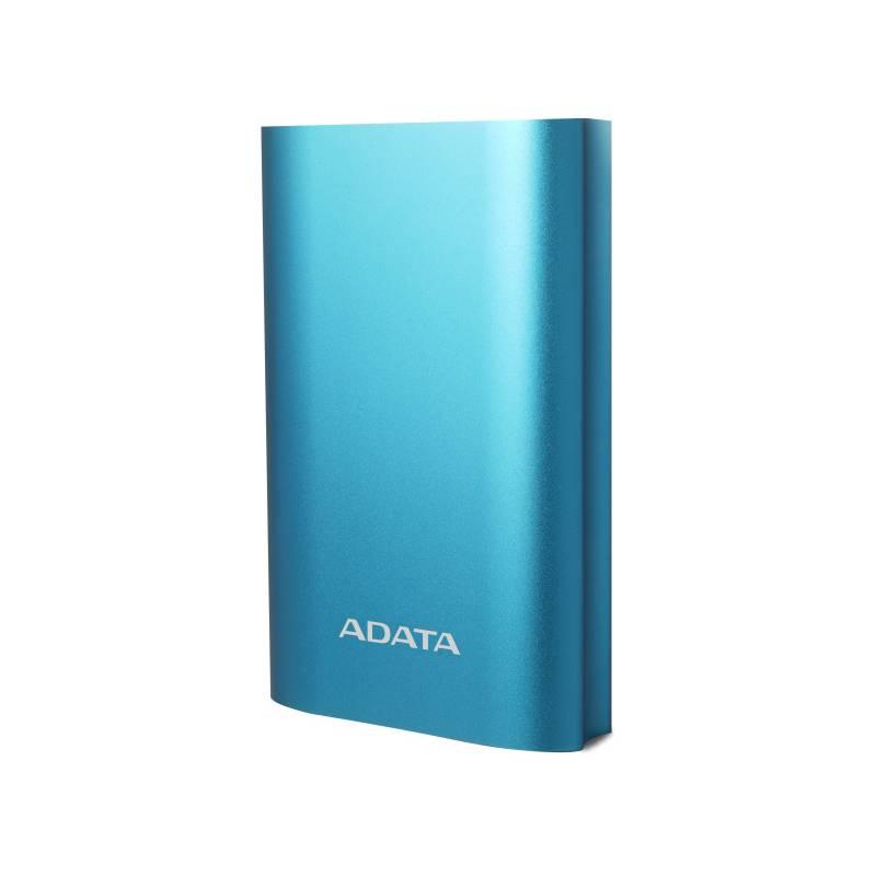 Power Bank ADATA A10050QC 10050mAh, s funkciou rýchlonabíjania (AA10050QC-USBC-5V-CBL) modrá