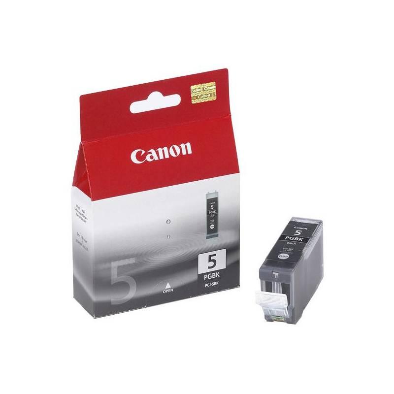 Cartridge, toner Canon PGI-5Bk, 340 stran - originální (0628B001) čierna