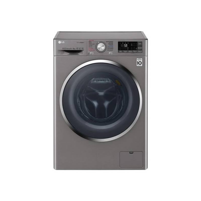 Automatická pračka se sušičkou LG F94J8FH2S stříbrná + LG 10 let záruka na Direct Drive motor